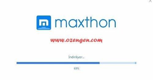 maxthon yukleme
