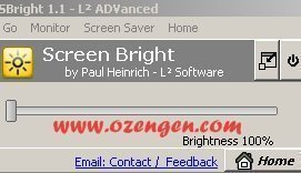 screen bright
