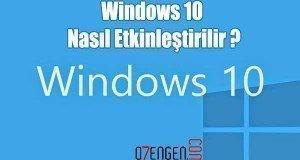 Windows 10 etkinlestirme