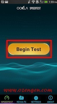 begin test