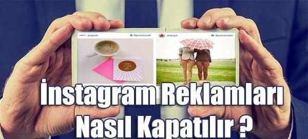 instagram reklam kapatma