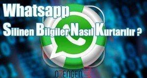 whatsapp silinen dosyalar