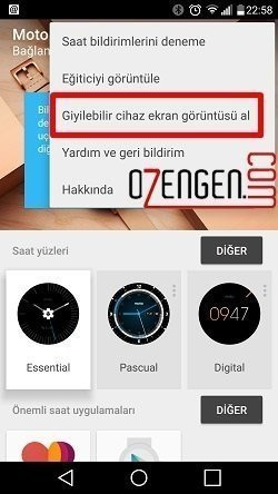 android wear ekran