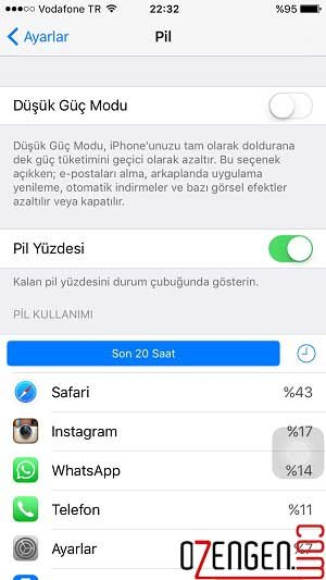 iphone pil durum