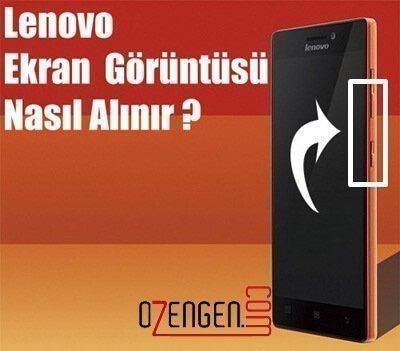 Lenovo telefon ekran