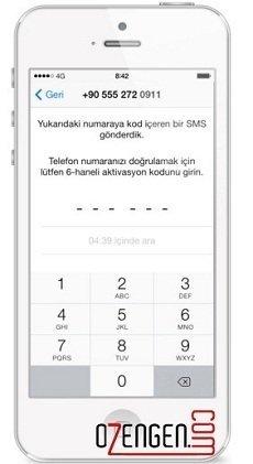 Whatsapp aktivasyon