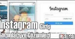 instagram giris sorun