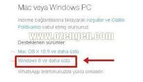 whatsapp windows indir