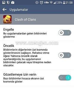 Clash Of Clans bildirimler
