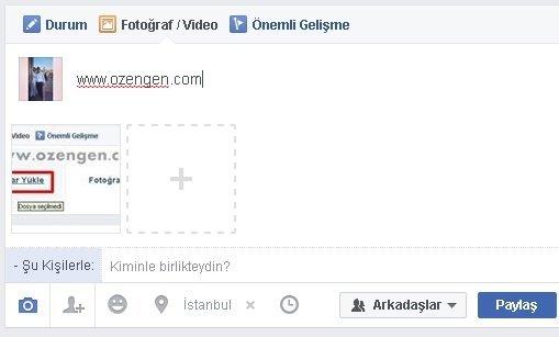 Facebook resim paylasma