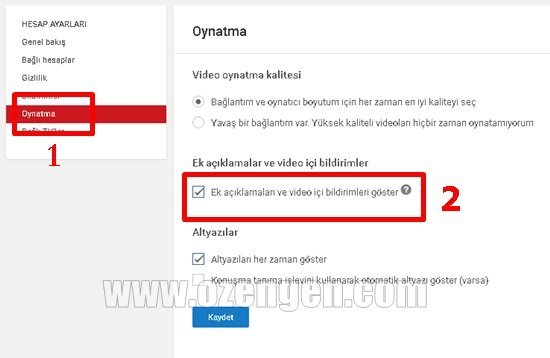 Youtube oynatma