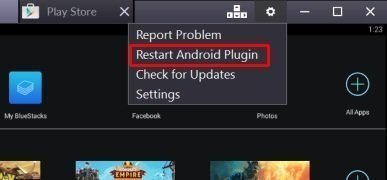Android plugin restart