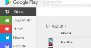 Google Play menu