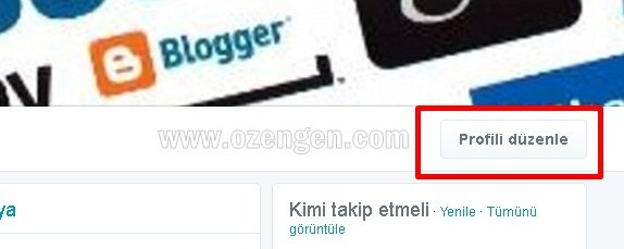 Twitter profili duzenle