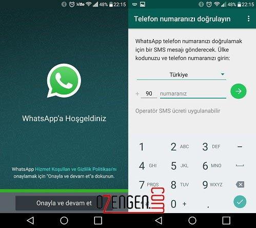 whatsapp onayla