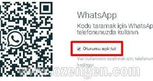 whatsapp oturumu acik tut