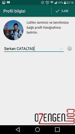 whatsapp profil bilgisi