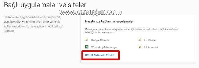 Google bagli uygulamalar