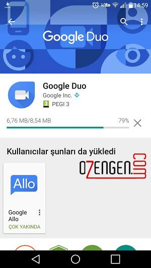 Google duo kullanim 1