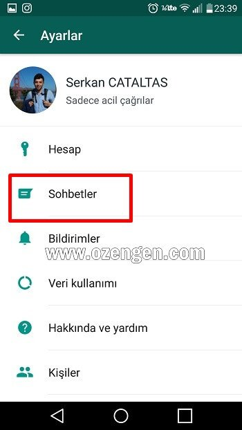 Whatsap sohbetler