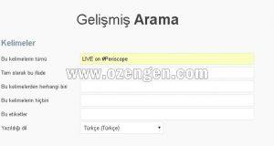 twitter-gelismis-arama