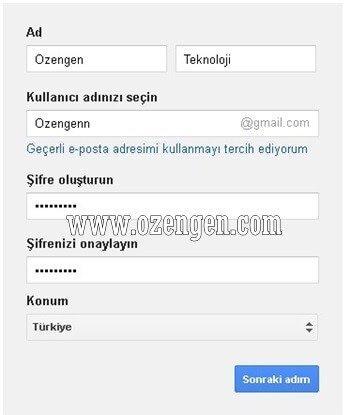 google-kayit-form