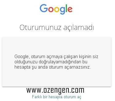 google-oturumunuz-acilamadi