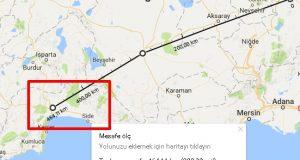 google-mesafe-hesap