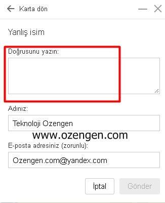 yandex-dogru-adres
