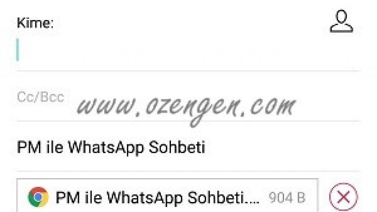 whatsapp konuşma geçmişi gönderme