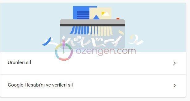 Google tüm verileri sil