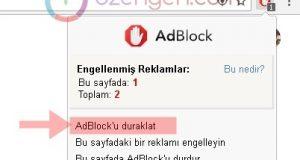 Adblock ayarlar