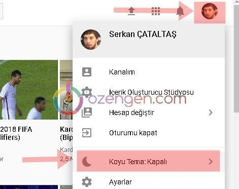 Youtube koyu tema