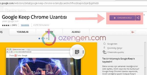 Chrome eklenti nasil yuklenir
