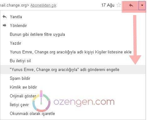 Gmail engelle