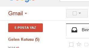 Gmail eposta yaz