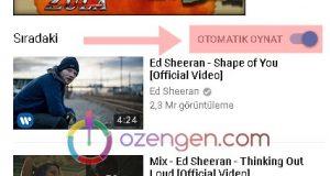 Youtube otomatik oynat
