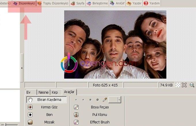 PhotoScape duzenleme