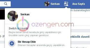 Facebook hesap degistirici