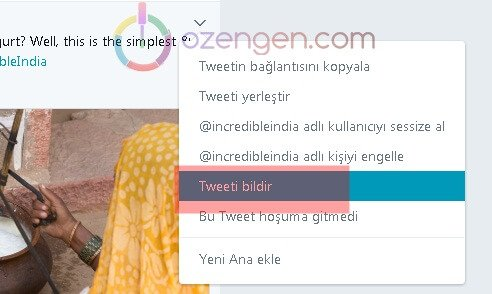 Tweeti bildir