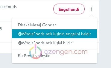 Twitter engel menu