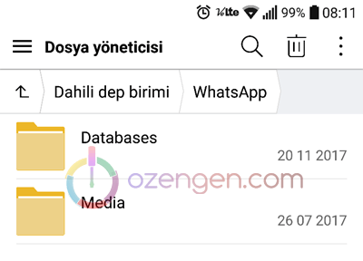 Whatsapp database