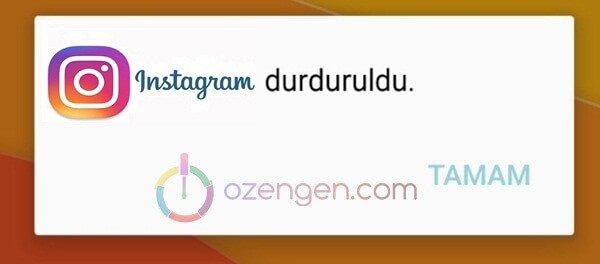 instagram durduruldu