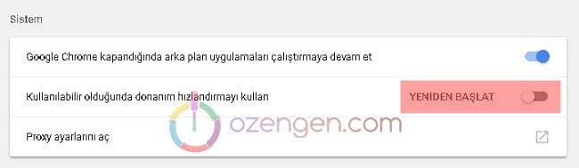Chrome donanim hizlandirma