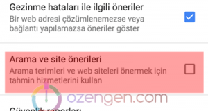 Chrome onerilen makaleler