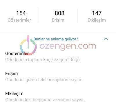 instagram istatistikleri gorme