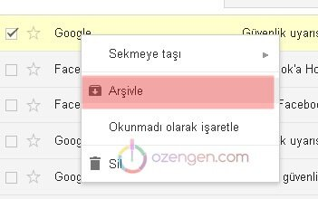 Gmail arsivle
