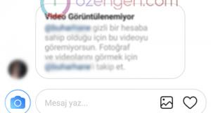 instagram mesaj