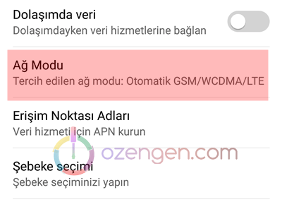 Android ag modu