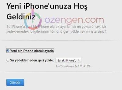Yeni bir iphone